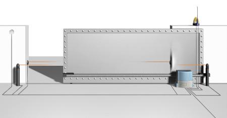 Schiebetor Freistehend, Zaunwelt-TF Rangsdorf, Torantrieb Modell